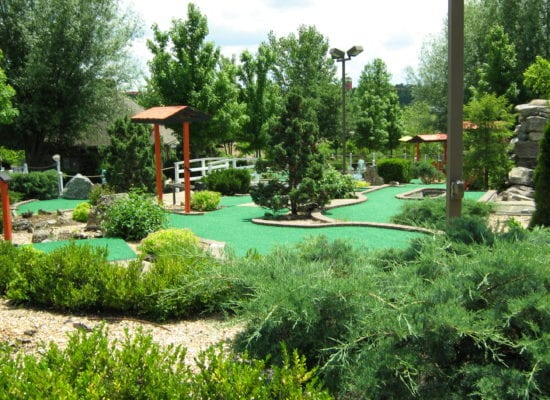 Brookside Miniature Golf. Come, relax and play on the banks of the babbling brooks.